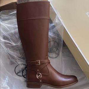 Michael Kors Boots Women Cognac Tall Riding Shoe